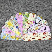 100 шт водонепроницаемые дышащие милые Мультяшные клейкие повязки для помощи при гемостазе, аптечка первой помощи для детей