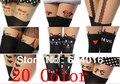 5 pcs venda nova 2017 Meias de Seda Tatuagem Mulheres Meias Alta meia Fina Tatuagem meia Meia-calça Transparente arco Atacado