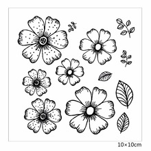 цены ZhuoAng  Beautiful flowers Rubber Clear Stamps and Cutting Dies Set for Scrapbooking Photo Album Card Making DIY Decoration Supp