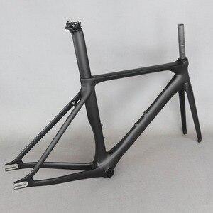 Image 2 - ベストセラー固定ギア安価な中国カーボンファイバー自転車フレームFM269