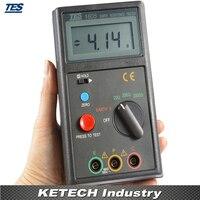 TES 1605 Digital Terra Resistência Tensão Tester Medidor 0 ~ 199.9 V/0 ~ 1999 tester atx tester cable tester line -