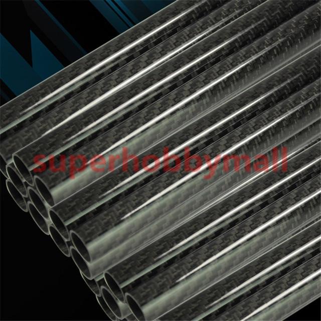 2pcs 3K Plain Weave Glossy Surface Carbon Fiber Tube Length 500mm 8mm 10mm 12mm 14mm 16mm 18mm 20mm 22mm 24mm 26mm 28mm 30mm