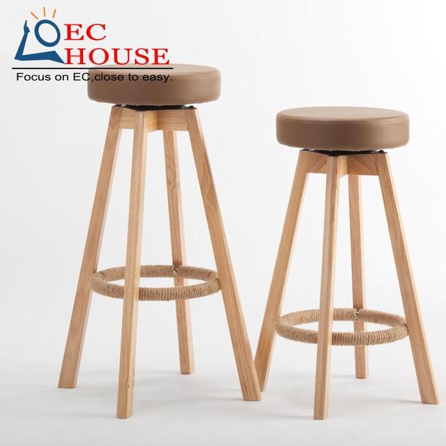 Деревянный стул высокого ног табурет барные стулья являются простой бытовой чистки БЕСПЛАТНАЯ ДОСТАВКА