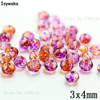 Isywaka 3X4mm 30,000pcs Rondelle Austria faceted Crystal Glass Beads Loose Spacer Round Beads Jewelry Making NO.61