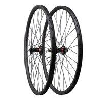 ICAN 29er 27C carbon mtb tubeless wheelset UD matt finish assemble with Novat black hub and pilla spoke 32 hole thru axle type