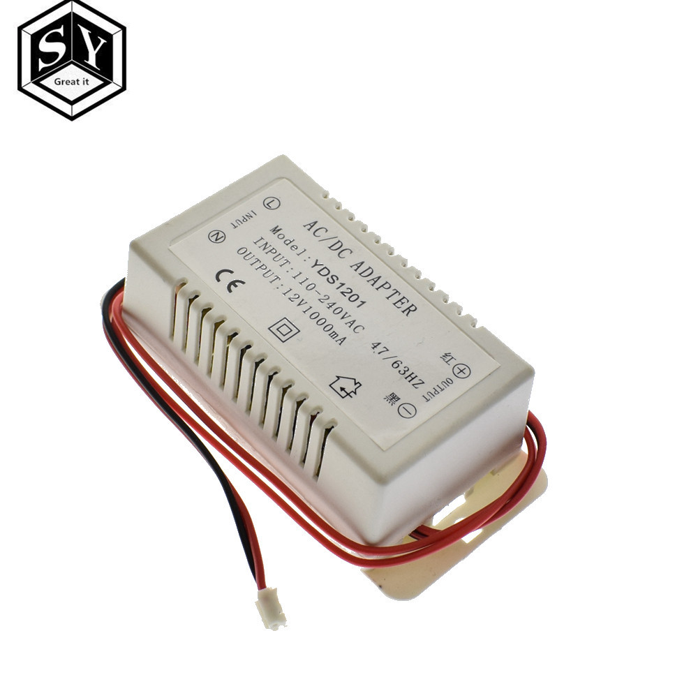 1PCS MP3 decoder board special power supply 12V1A power adapter 12V power supply