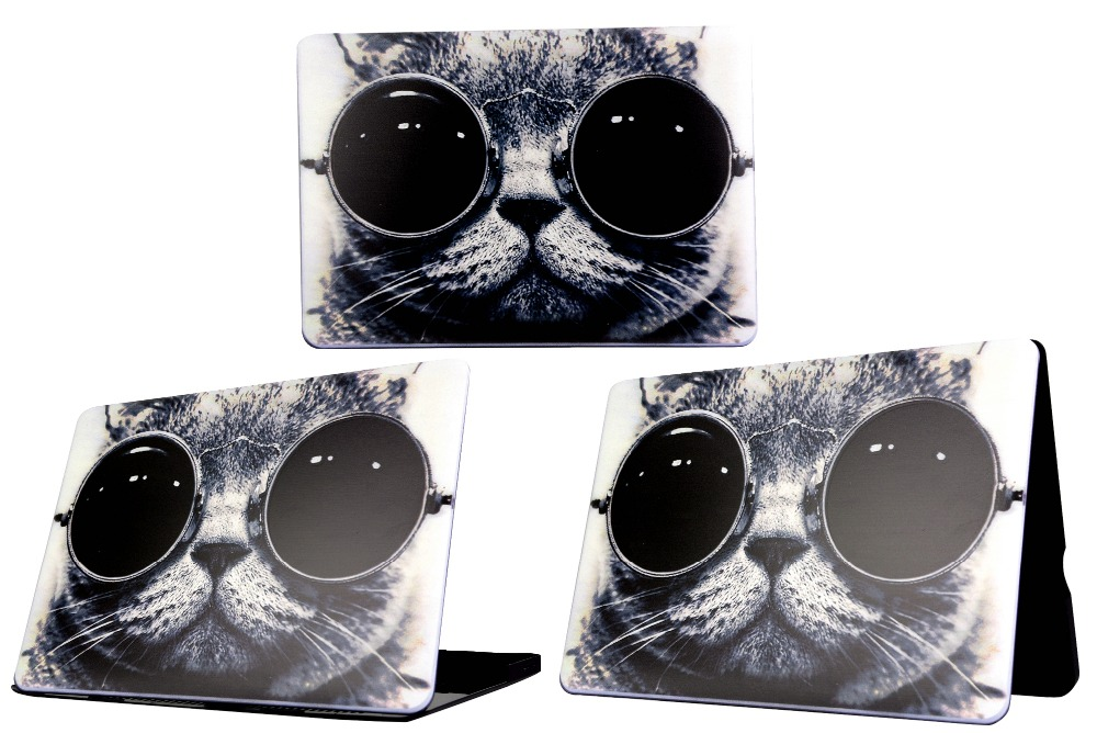 2017 Cartoon Cat Eye PC Coque for Macbook Air 11 13 12 Pro Retina 13 15 Laptop Case,for Macbook Pro 13 15 Touch Bar Laptop Cover