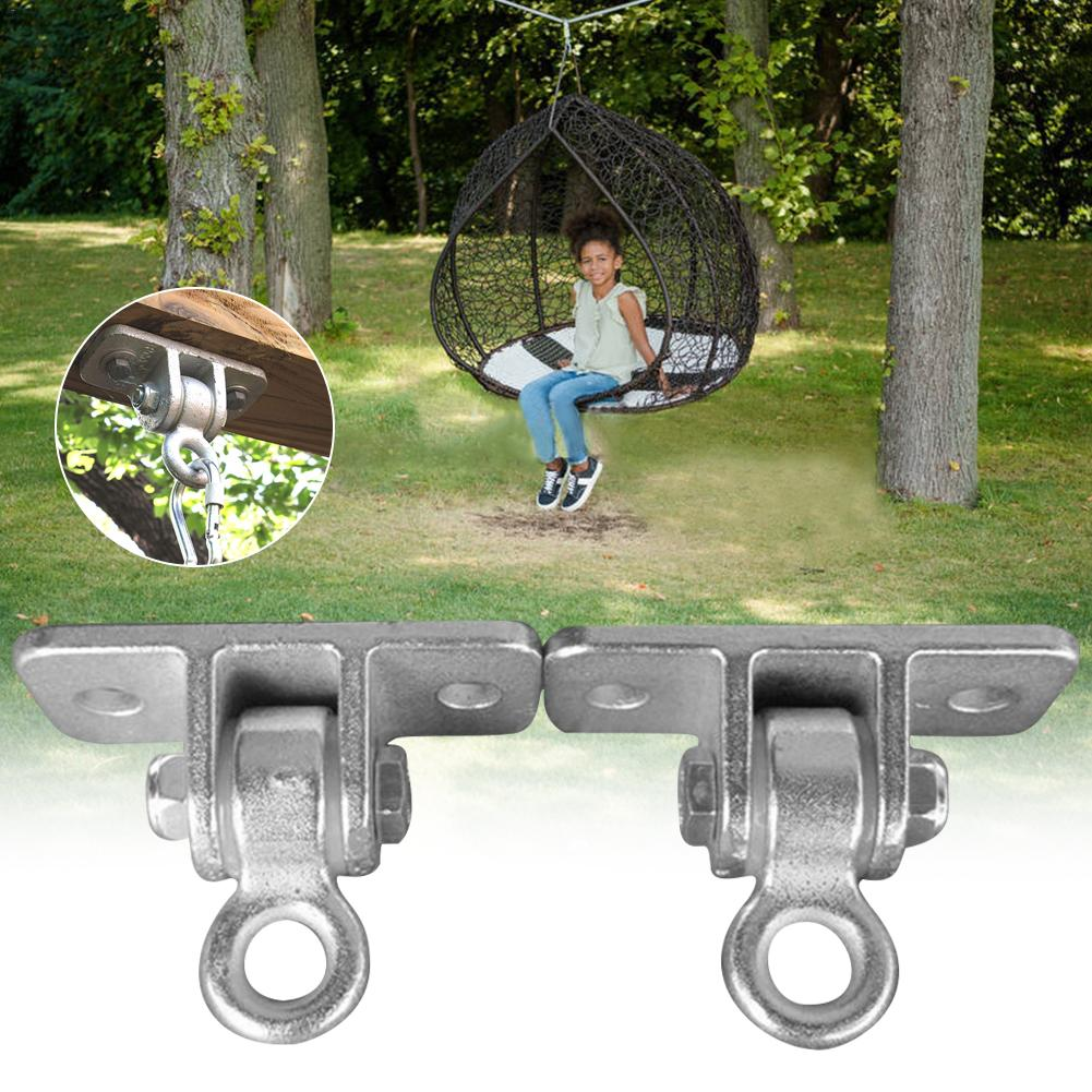 Heavy Duty Swing Hangers Playground Porch Yoga Seat Hammock Swing Chair Trapeze Wooden Sets Indoor Outdoor Locking Snap Hooks