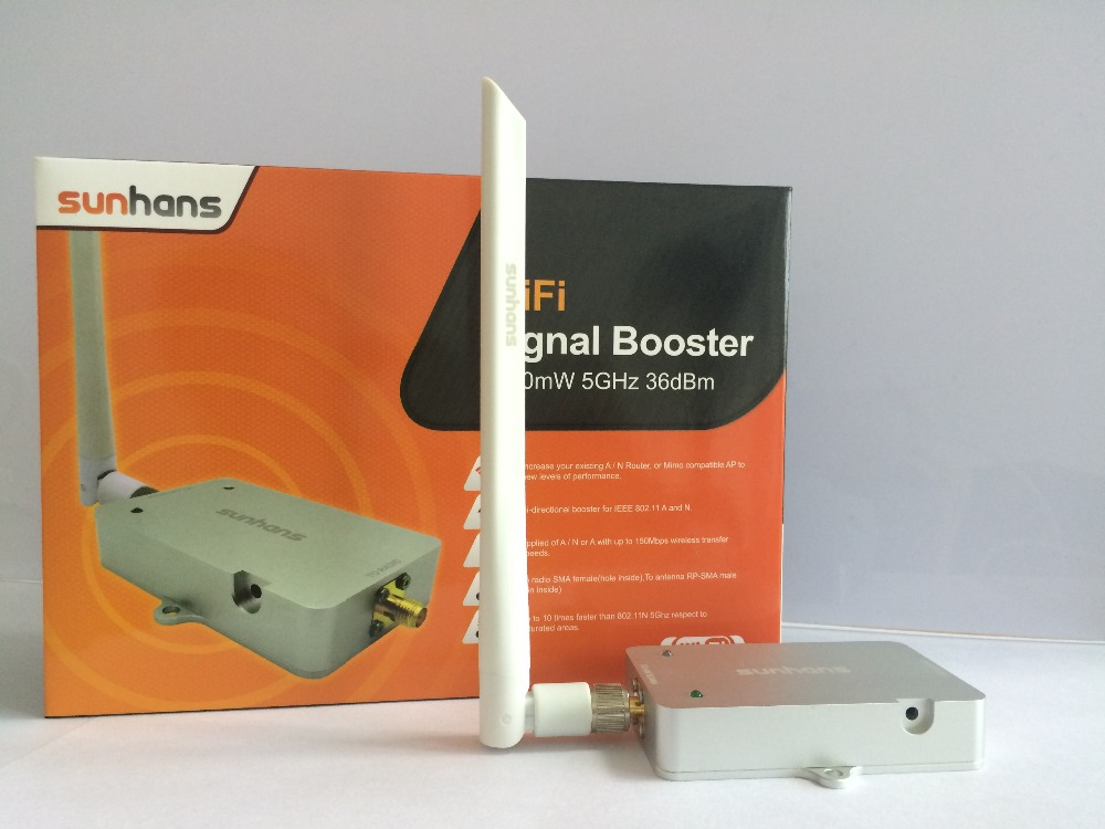 [Genuine] Sunhans SH58Gi4000 5.8GHz 4W (36dBm) IEEE 802.11a/n WiFi Indoor Signal Booster Monitor Signal Amplifier