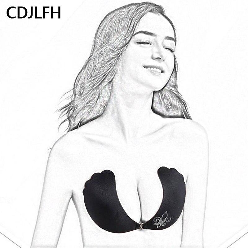 Redelijk Strapless Bra Silicon Onzichtbare Push Up Bras Voor Vrouwen Zelfklevende Draadloze Bralette Feestjurk Stok Beha Sexy Lingerie Femme