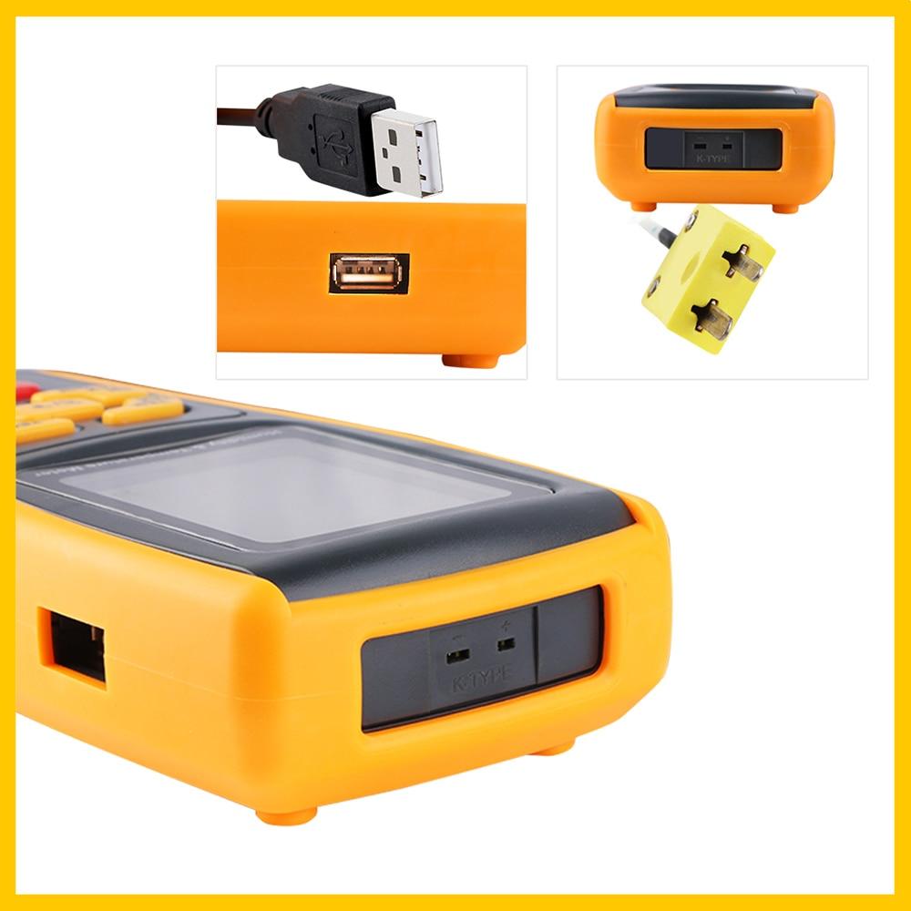 RZ GM1361 Páratartalom-hőmérséklet-mérő nagyméretű, dupla LCD - Mérőműszerek - Fénykép 4