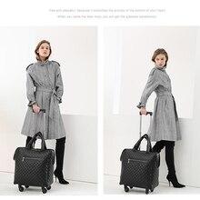CARRYLOVE, 18 дюймов, женская кожаная дорожная сумка, Спиннер, кабина, чемодан для путешествий, сумка для багажа на колесах