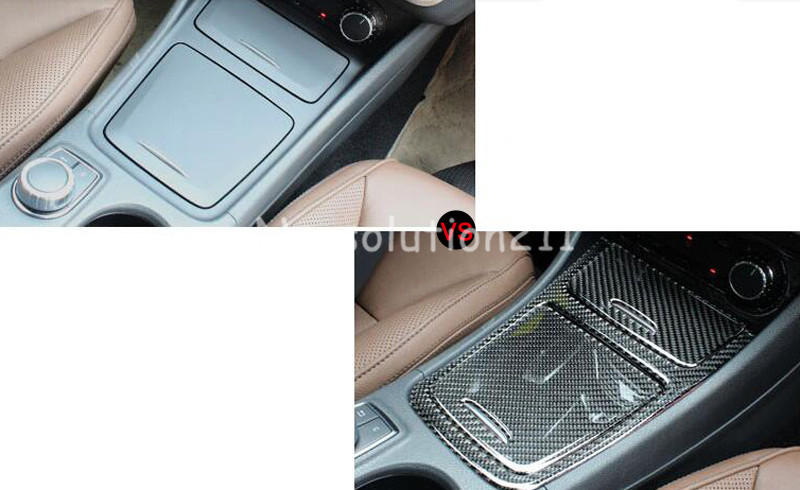 Auto Center Control Storage Cover+Cigarette Ashtray Cover For Benz A Class W176 2013-2015 ashtray