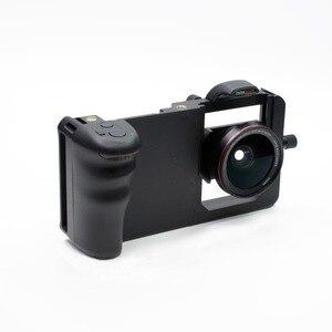 Image 2 - Cage commune de tournage de plate forme vidéo de stabilisateur dappareil photo de Smartphone de Cage de lapin + lentille pour lappareil photo destabilizador de téléphone diphone de Xiaomi