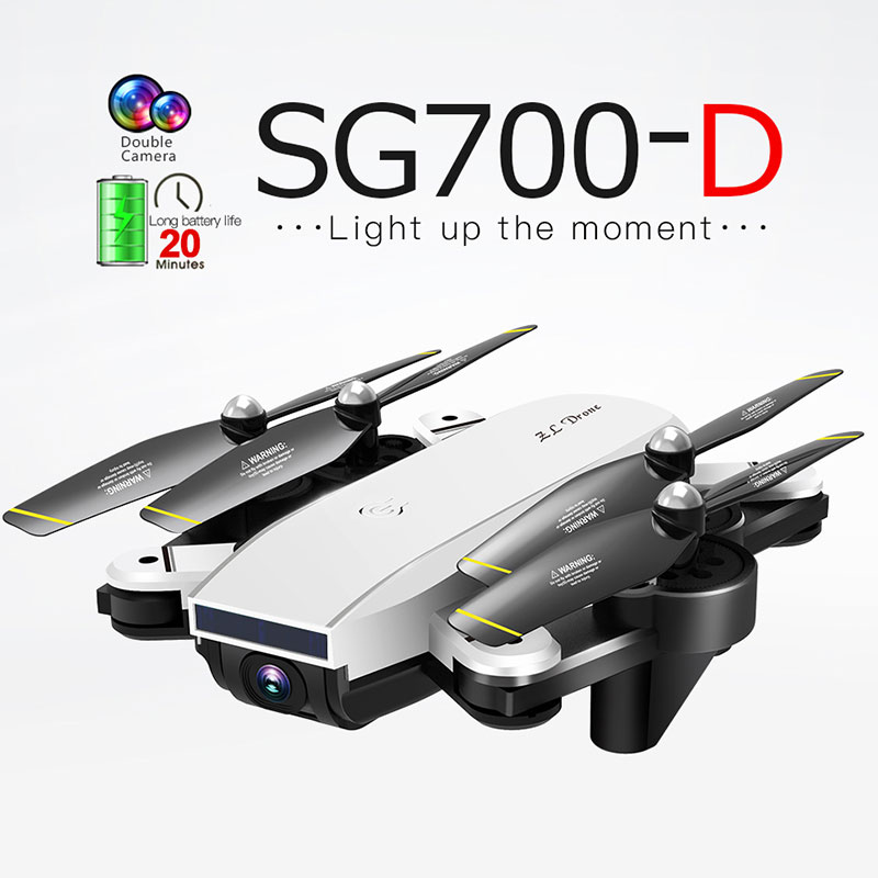 SG700-D Drone 2.4Ghz 4CH Wide-angle WIFI FPV 4K Optical Flow Dual Camera RC Helicopter RC Quadcopter Selfie Drone with Camera HD(China)