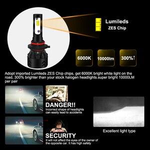 Image 2 - roadsun Car Light Led H4 H7 H11 H1 9005 9006 HB3 HB4 LED Headlight Bulb With Lumileds ZES Chip 12V 6000K Bright Auto Spot Lamp