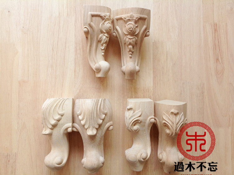 Wood dongyang wood carving fashion solid wood legs sofa legs peony rose