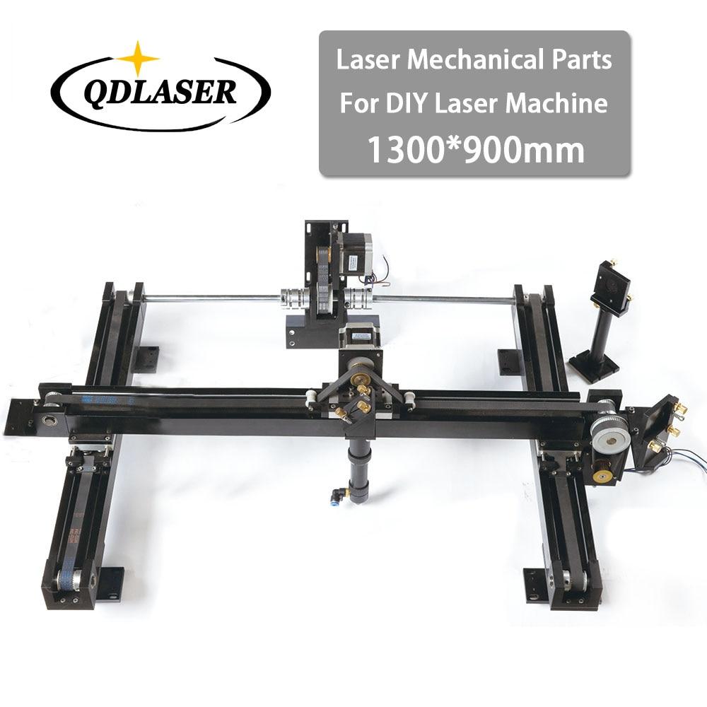 Co2 DIY Laser Cutter Set 1300*900mm Size Mechanical Laser Spare Parts Kit whole set co2 laser cutter parts laser mechanical components diy co2 laser with 2 laser heads