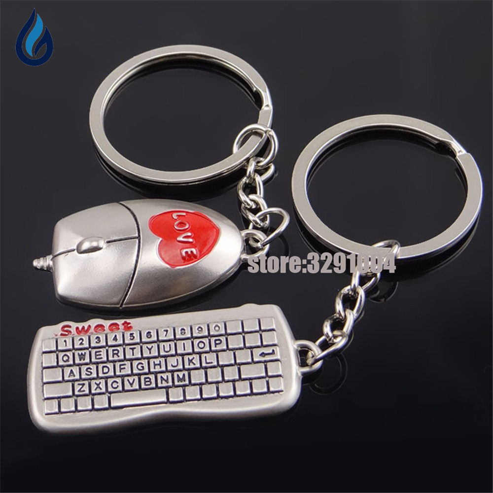 A Pair Of Mouse And Keyboard Key Chain Funny Car Key Ring For Skoda Octavia  A7 A5 Opel Astra J Vw Golf 4 T5 T4 Keychain Keyring 23b3bf78c138