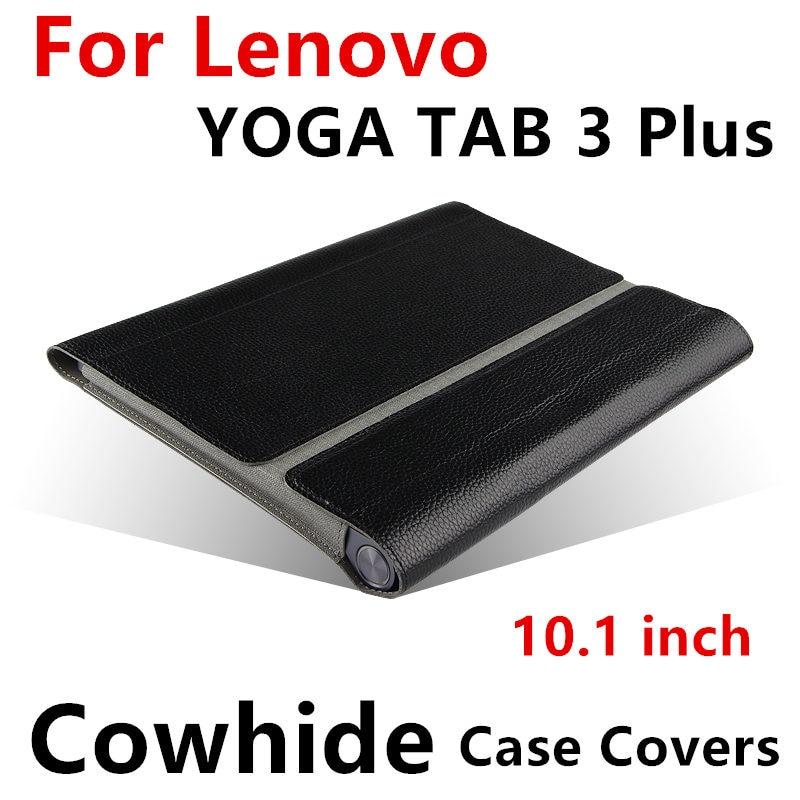 Case peau de Vache Pour Lenovo Yoga Tab 3 Plus 10 De Protection Smart cover Véritable En Cuir Tablet TAB3Plus YT-X703F 10.1 Protecteur Manches