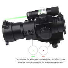 Tactical Hunting Holographic Sight Red Green Dot Scope 1X30 with green laser for Shot Gun Airsoft 20mm Rail Mount Riflescopes цена в Москве и Питере