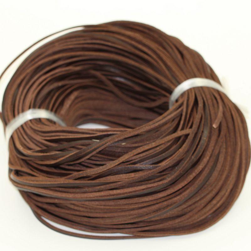 100 m/pièce (largeur 3mm et épaisseur 2mm) bracelets collier raccord corde véritable cuir de vache cordon