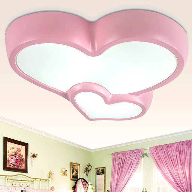 Girl Kids Room Decoration Heart Shaped Ceiling Lamps Modern Pendant Light  Design Lights Free EMS