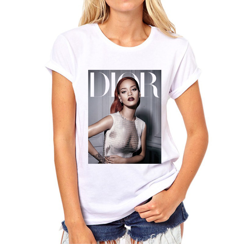 New Summer Rihanna Women Tshirt 3D Sexy Brand Casual-shirt Swag Clothes Girl T-shirts Teenage Hip Hop Top Tees N11-6#