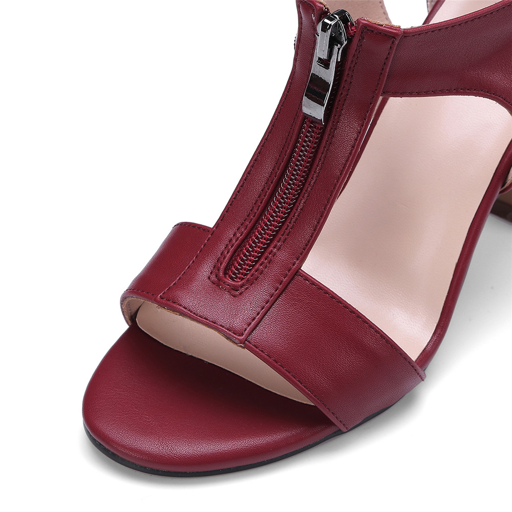 Memunia Glissière Sandales camel 2018 Talon Red Vente Mode Couverture De Simple À Hauts Chaude wine Noir D'été Peep Talons Chaussures Fermetures Femme Toe rSgraw