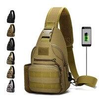 600D Im Freien Wasserdichte Taktische Schulter Tasche USB Military Armee Camping Wandern Tasche Rucksack Utility Camping Reise Trekking Taschen Klettern Taschen    -
