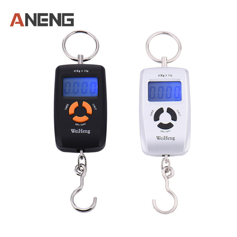 Accurate 45kg/10g LCD Portable Digital Electronic Scale Pocket Luggage Hanging Weight Fishing Hook Balance Scale portable 40kg 10g electronic hanging fishing digital pocket weight hook scale multifunctional luggage shopping fishing weighing