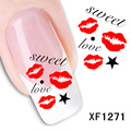 XF1271-Fashion New style Water Transfer Stickers 1 Sheets 3D Design DIY Nail Art Decorations Nail Sticker Nail Decal Nail Tools