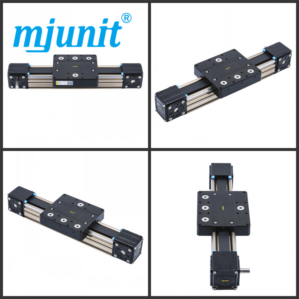 mjunit MJ80 Linear Stage Actuator CNC Router Parts X Linear Rail Guide with 1000mm stroke length manufactory low price for 1pc trh35 length 1000mm linear slide rail cnc linear guide rail 34mm