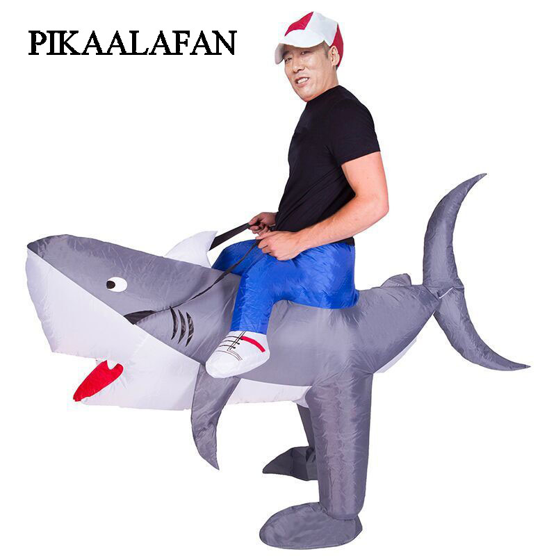 цена PIKAALAFAN Giant Inflatable Toy Party Cute Cartoon Shark Inflatable Costume Doll Costume Prop Inflatable Costume Cosplay