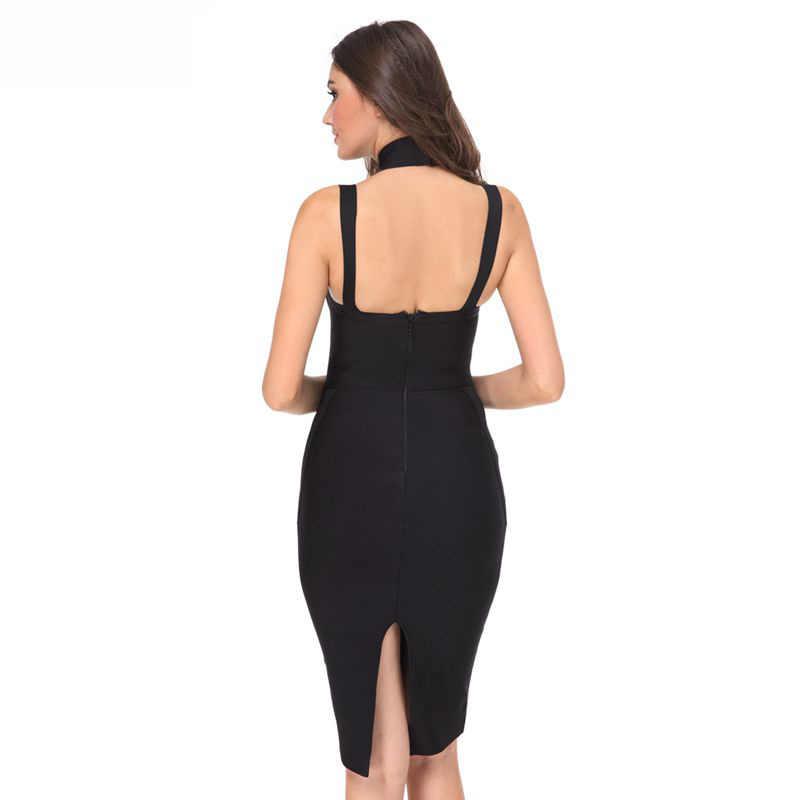 Leger Babe Летнее платье вечернее Бандажное платье для женщин без рукавов Облегающее Vestidos черное синее красное платье чокер шеи