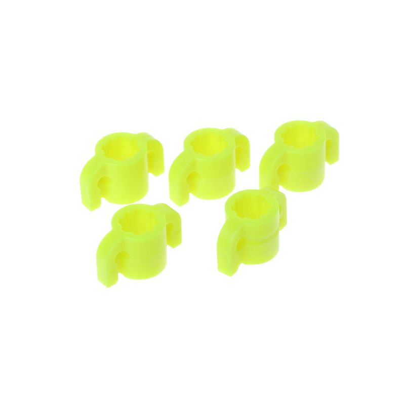 10pcs Yellow Plastic Bowfishing Arrows Safety Slides for 8mm Arrow Shaft