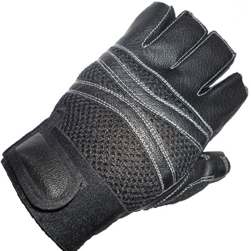 Women Men Anti-skidding Thin Fingerless Gloves Half Finger Gloves CB