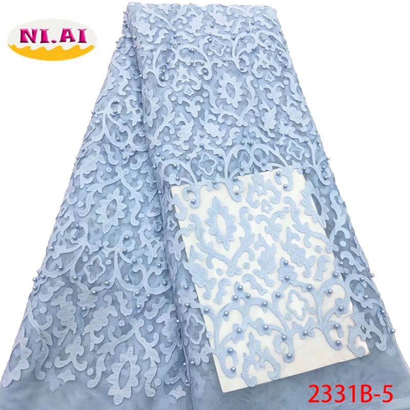African Lace Fabric 2018 High Quality Lace Nigerian Lace Fabric With Beads Embroidery Tulle French Lace