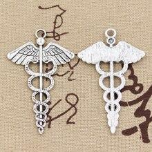 Charms Jewelry Caduceus-Medicine Pendant-Fit Antique-Making Silver-Color Tibetan Diy Handmade