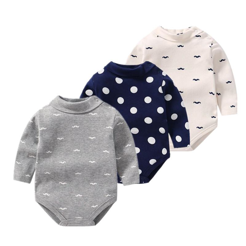 2019 New Pure Cotton Long Sleeve Baby Bodysuit Underwear Aliexpress Baby Clothes Beard Body Baby Unisex Outfits Newborn