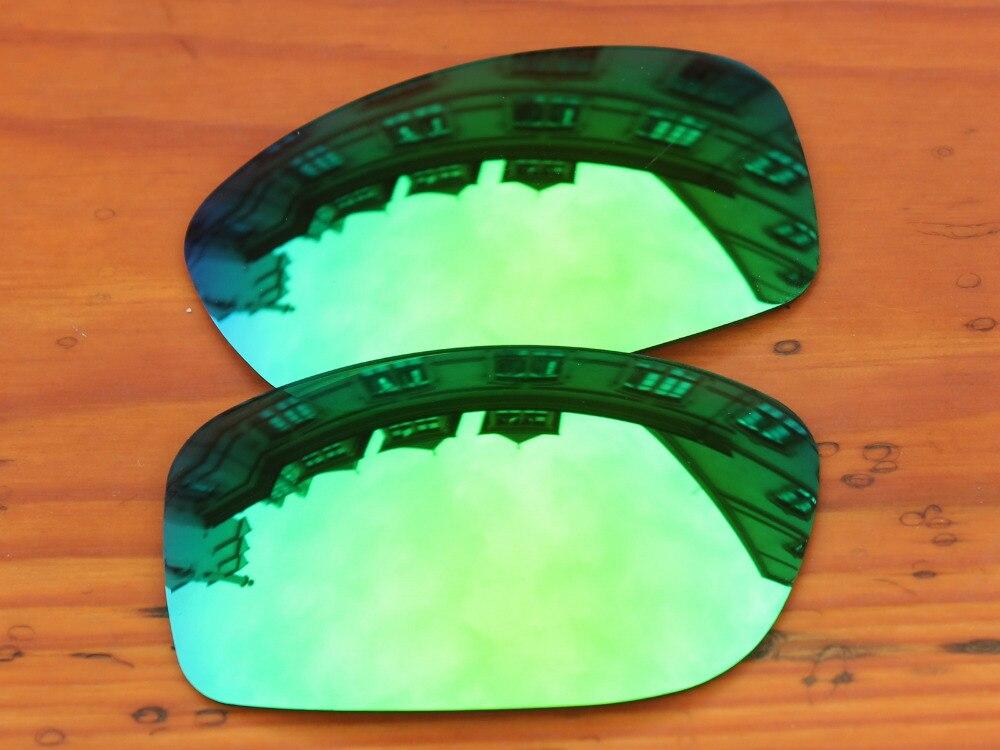 Изумрудно-зеленый зеркало Поляризованные замены Оптические стёкла для Pit Bull Солнцезащитные очки для женщин Рамки 100% UVA и UVB Защита