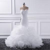 Katristsis d 2018 Mermaid sweetheart Wedding Dresses Vestido De Noiva Sheer Lace Up Bride Tull Ruffles Bridal Dress Gown