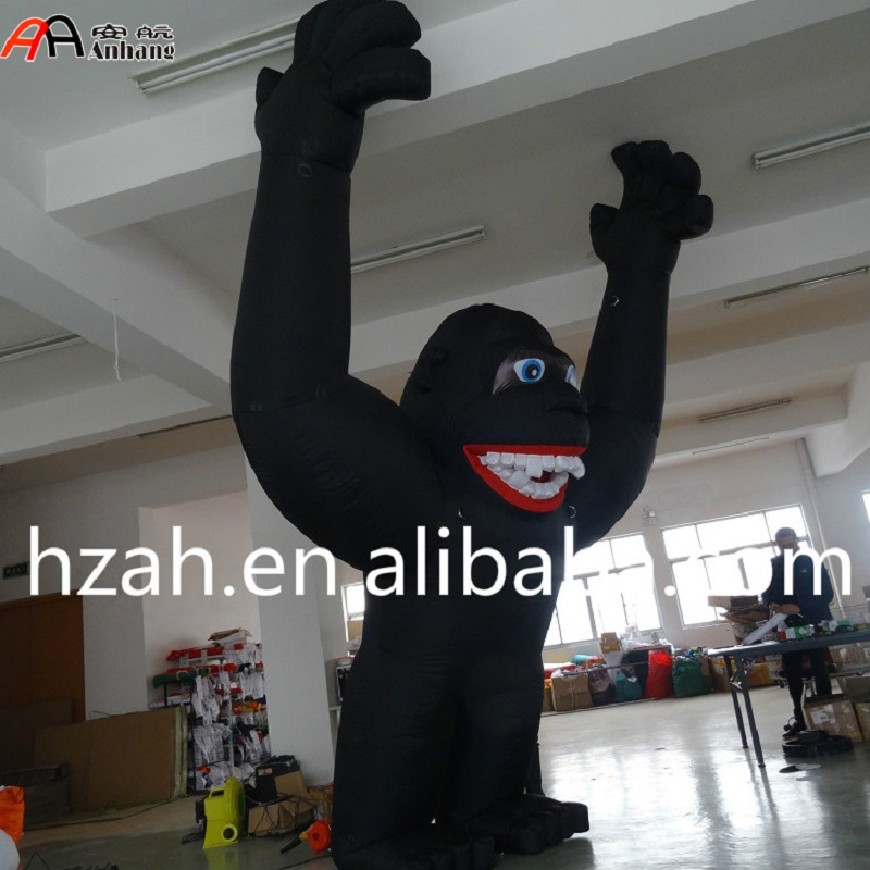 Giant Inflatable Black Gorilla Cartoon Model for Advertising Decoration giant inflatable balloon for decoration and advertisements