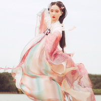 Chinese Dance Costume Red Hanfu For Women Traditional Stage Wear Folk Dress Oriental Performance Clothing Festival Outfit DC2348