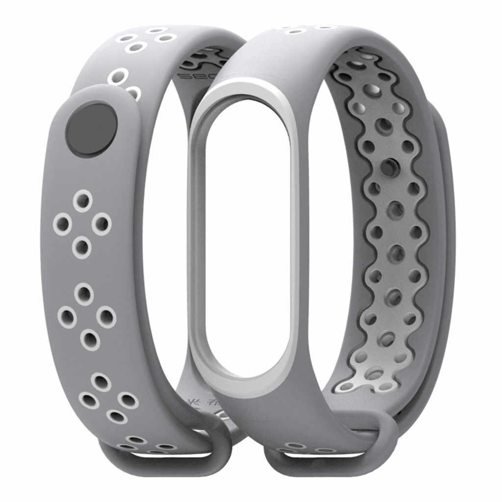 นาฬิกาสายนาฬิกาชายยางสายรัดข้อมือสำหรับ XIAOMI MI เข็มขัด 3 Miband NATO สำหรับนาฬิกา
