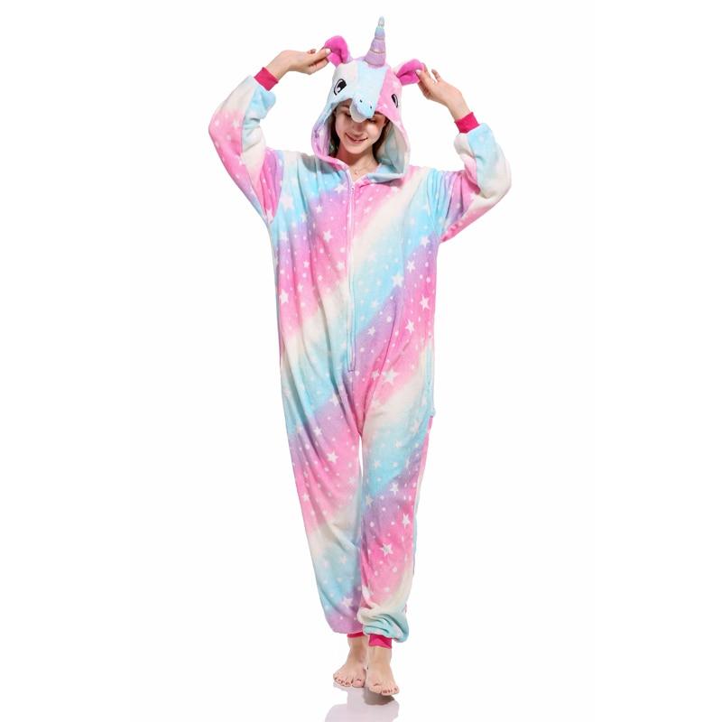 Dropwow Flannel Animal unicorn panda onesie pajamas women s warm ... a1135f493