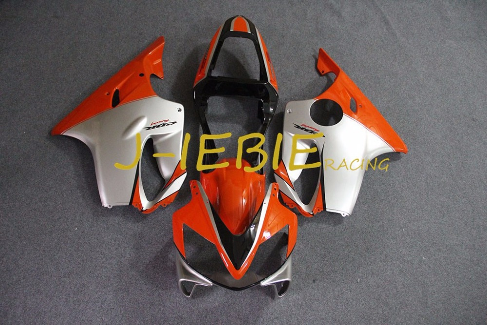Orange silver Injection Fairing Body Work Frame Kit for HONDA CBR600 CBR 600 CBR600F F4I 2001 2002 2003