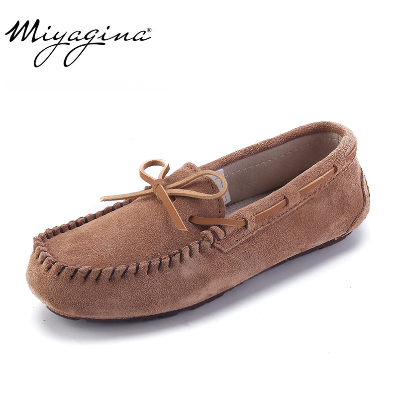 4f448e782eb08 Top Fashion Women's Flat Shoes 100% Genuine Leather Woman Shoes Flats  Casual Loafers Soft Slip