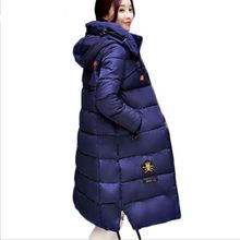 HZF Large size Winter Coat Women 2017 New Mujer Padded Jackets and Coats Slim Thick Cotton Long Jacket Coat Parkas