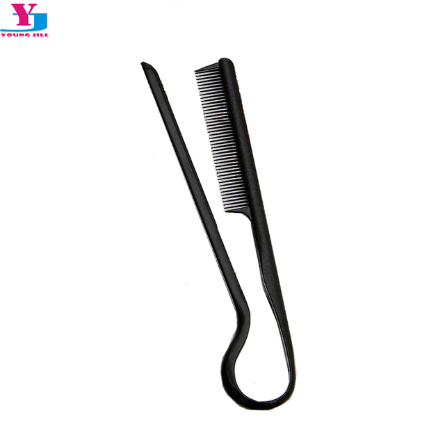 New V Shape Hair Brush Comb Fast Hair Straightener Black Extension Slim Line Comb Salon Tool Styling Beard Combs Peigne Tarak